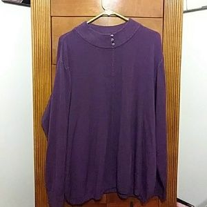 💜💋Purple Sweater with Heart buttons on Collar!